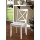 Arriola Cross Back Side Chair in White (Set of 2) by August Grove®