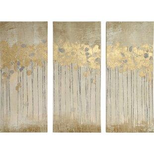 d78617e964 'Sandy Forest' 3 Piece Painting Print Set on Canvas