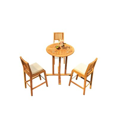 Mastin 4 Piece Teak Dining Set by Rosecliff Heights Amazing