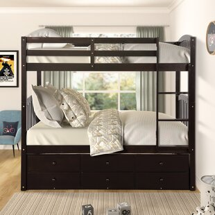 Whitson Twin over Twin Bunk Bed with Trundle and 3 Drawers