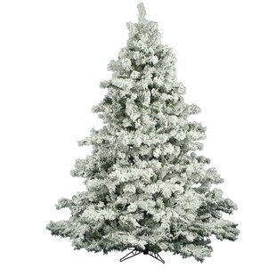 flocked alaskan 65 whitegreen pine trees artificial christmas tree - Holiday Time Christmas Decor 9 Flocked Garland Green