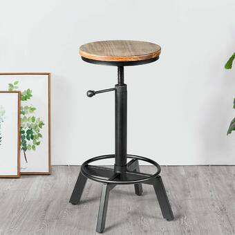 17 Stories Verdell Adjustable Height Swivel Bar Stool Reviews Wayfair