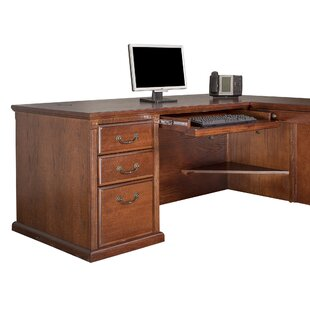 Reynoldsville L Shape Executive Desk by DarHome Co 2019 Coupon