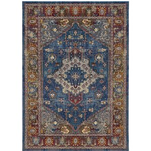 Raabe Blue/Rose Area Rug