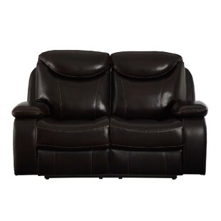Aarav Upholstered Dual Reclining Loveseat Red Barrel Studio