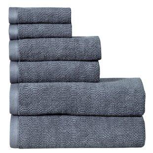Pigg 6 Piece 100% Cotton Bath Towel Set