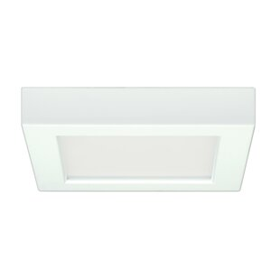 Compare & Buy Elzy Square 1-Light LED Flush Mount By Orren Ellis