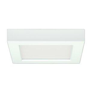 Buy luxury Elzy Square 1-Light LED Flush Mount By Orren Ellis