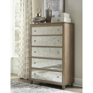 Compare prices Gunnar 5 Drawer Chest by Rosdorf Park