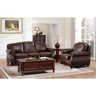 Rude Leather 2 Piece Living Room Set by Canora Grey