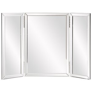 Trifold Rectangle Vanity Mirror