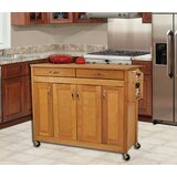Caninenberg Kitchen Island with Butcher Block Top by Winston Porter