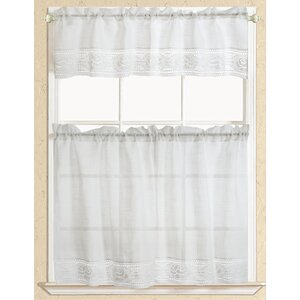 Eden Macrame Kitchen Curtain