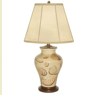 Motile Shell Hand Painted Porcelain 29 Table Lamp