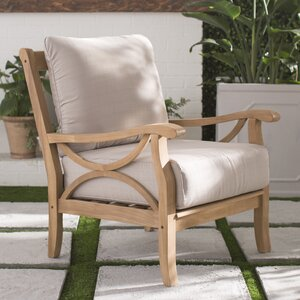 Brunswick Teak Patio Chair With Cushions Joss Main