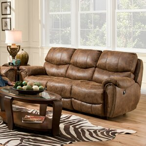 Carolina Leather Reclining Sofa by Red Barrel Studio