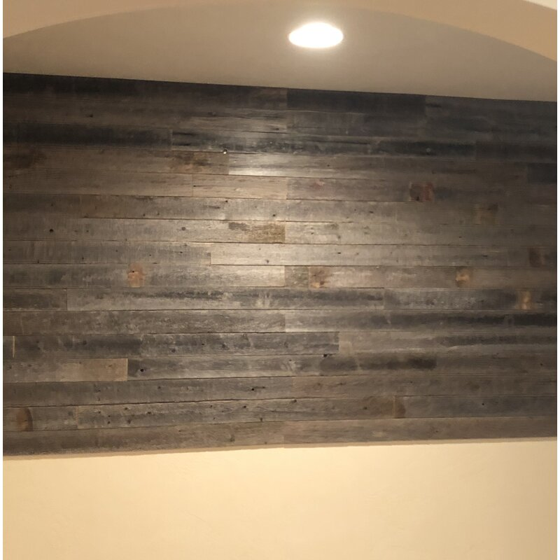 Rockin Wood 3 5 X 12 Solid Wood Wall Paneling In Gray Reviews Wayfair