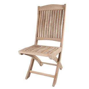 Solid Teak Batavia Folding Patio Dining Chair (Set of 2) by Arbora Teak