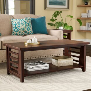 Find a Alvina Cherry Walnut Coffee Table by Red Barrel Studio