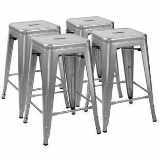Lehman Stackable 24 Bar Stool (Set of 4) Williston Forge