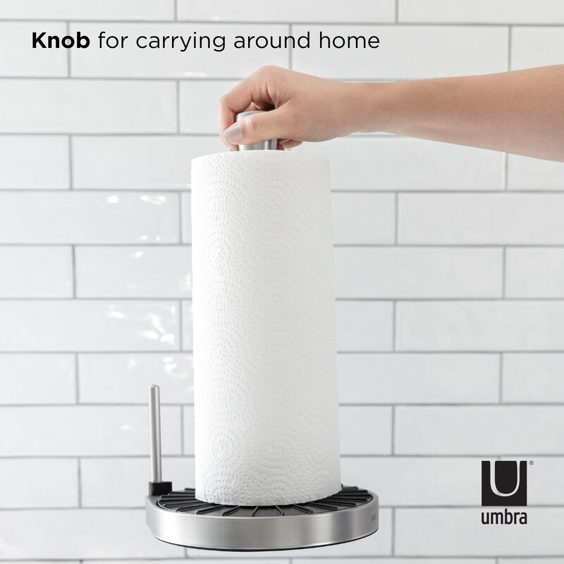 Basics Easy Tear Wall Mount Paper Towel Holder with Ridges