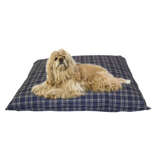 Cheryl Indoor/Outdoor Shegang Dog Bed in Blue Plaid
