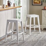 Dorian Wooden Counter 26 Bar Stool (Set of 2) by Loon Peak®