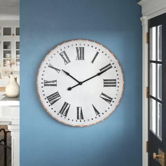 Oversized Thomaston Barnwood 36 Wall Clock Reviews Birch Lane