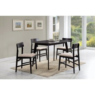 Declue Wooden 5 Piece Dining Set
