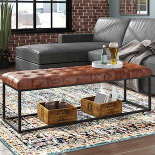 Superb Lorilee Leather Bench Machost Co Dining Chair Design Ideas Machostcouk