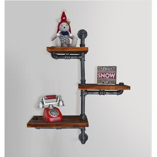 Cilley Industrial Floating Pipe Wall Shelf