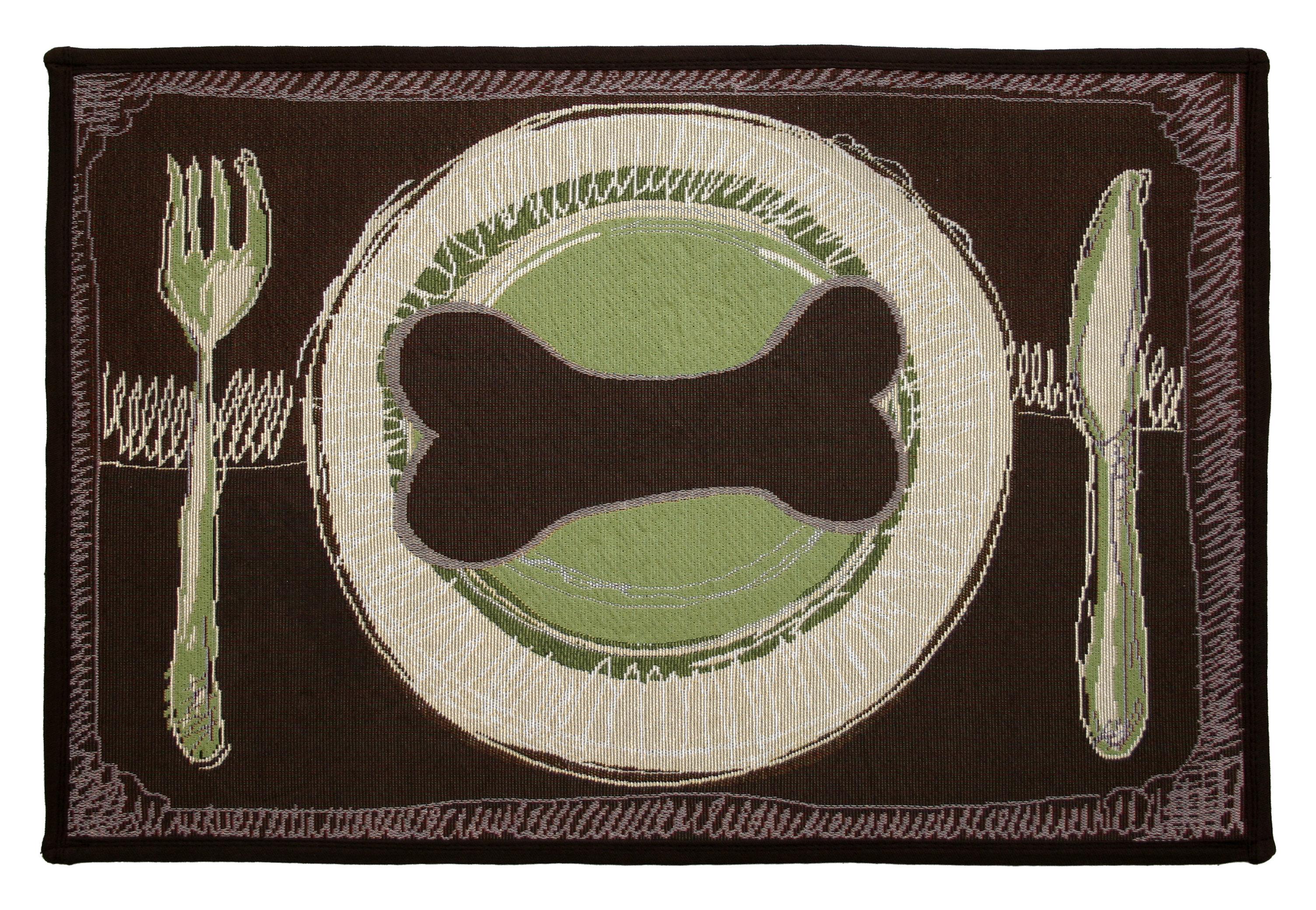 Park B Smith Ltd Pb Paws Co Leaf Pesto Dog S Dinner Tapestry Area Rug Reviews Wayfair