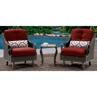 Sherwood 3 Piece Conversation Set with Cushions By Three Posts