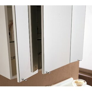 Affordable Price Archeda VI 37.4 x 31.5 Surface Mount Medicine Cabinet with Lighting By Acquaviva