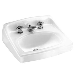 Inexpensive Lucerne Ceramic 21 Wall Mount Bathroom Sink with Overflow ByAmerican Standard