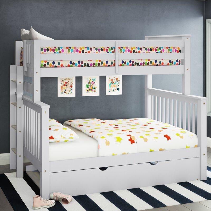 Harriet Bee Treva Twin Over Full Bunk Bed With Trundle Reviews Wayfair