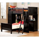 Otha Twin Solid Wood L-Shaped Bunk Beds with Built-in-Desk by Harriet Bee