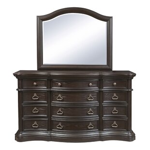 Ikin 12 Drawer Dresser With Mirror by Canora Grey Amazing