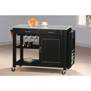 Cottonwood Kitchen Island with Granite Top by Wildon Home ®