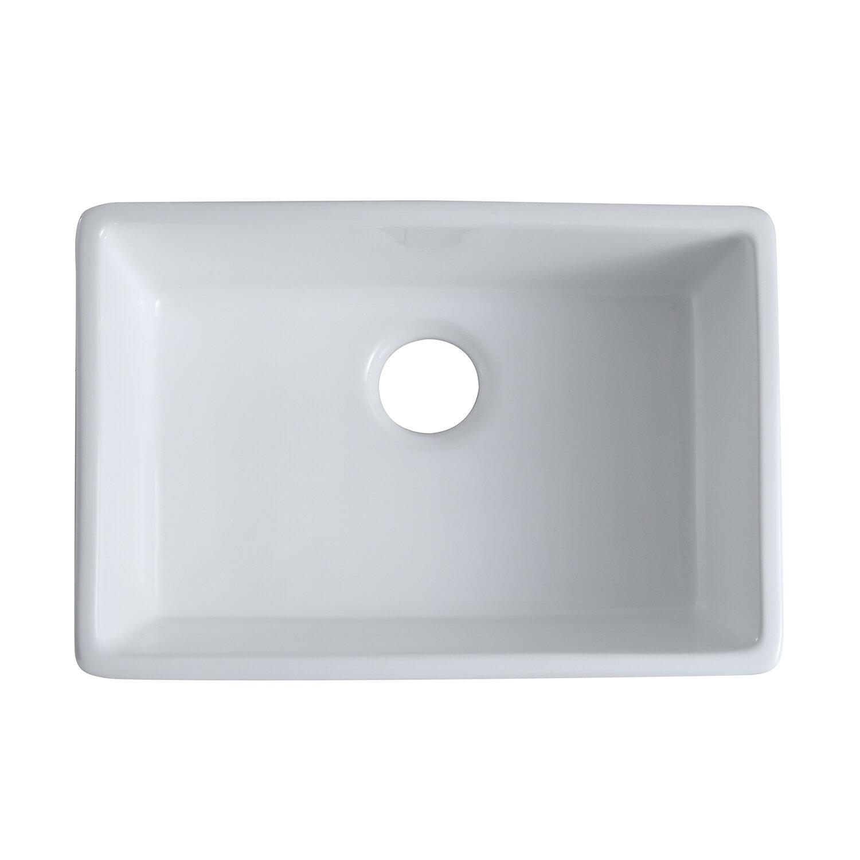 Maincraft Ceramic 33 L X 20 W Farmhouse Kitchen Sink Wayfair