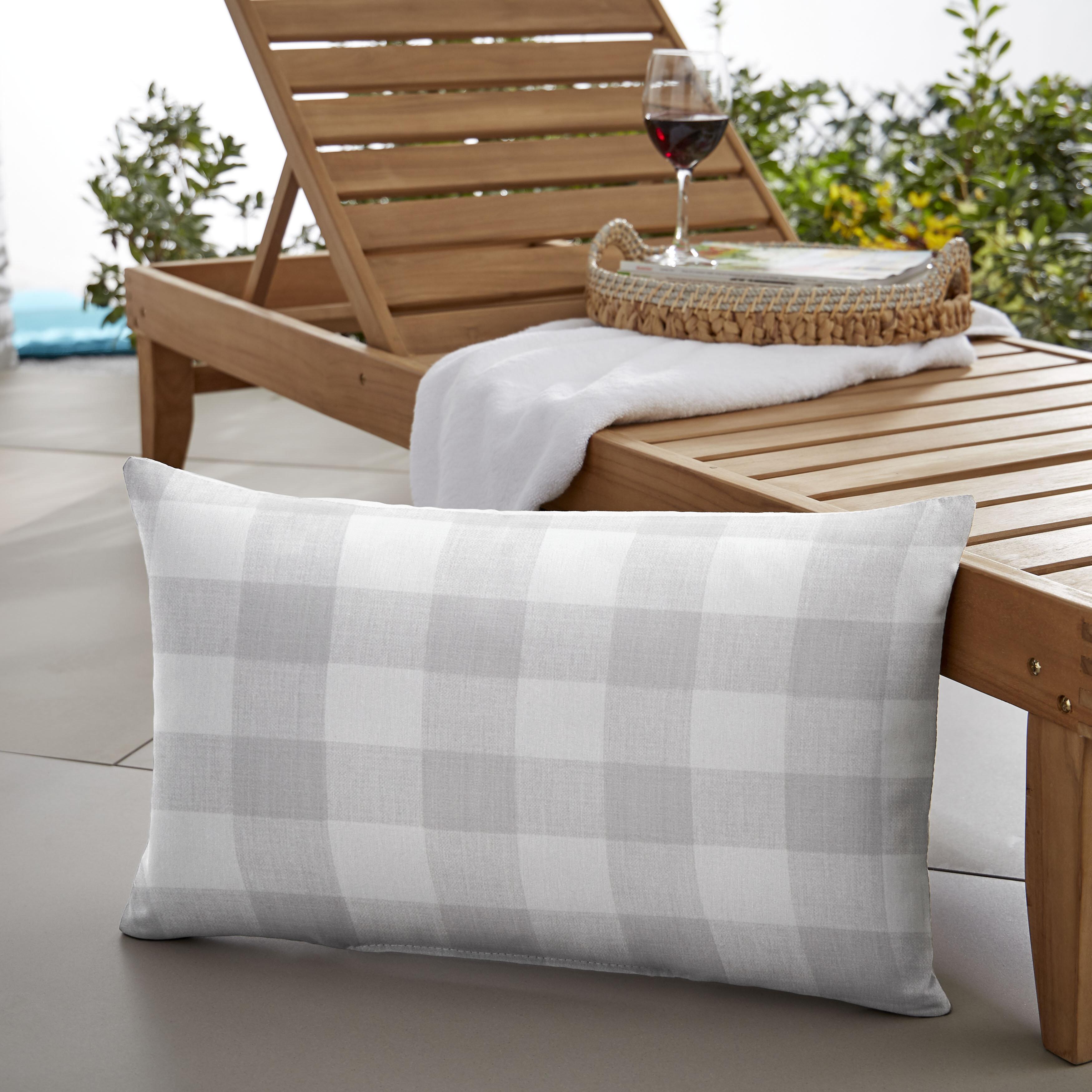 Mozaic Company Beddows Buffalo Plaid Indoor Outdoor Lumbar Pillow