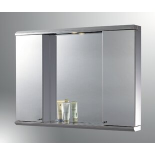 Compare prices Lawless Edge Mirror Door 28 x 29 Recessed Frameless Medicine Cabinet and LED Lighting ByLatitude Run