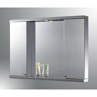 Purchase Lawless Edge Mirror Door 28 x 29 Recessed Frameless Medicine Cabinet and LED Lighting ByLatitude Run