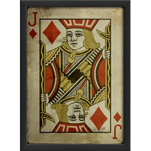 Jack of Diamonds Framed Graphic Art by The Artwork Factory