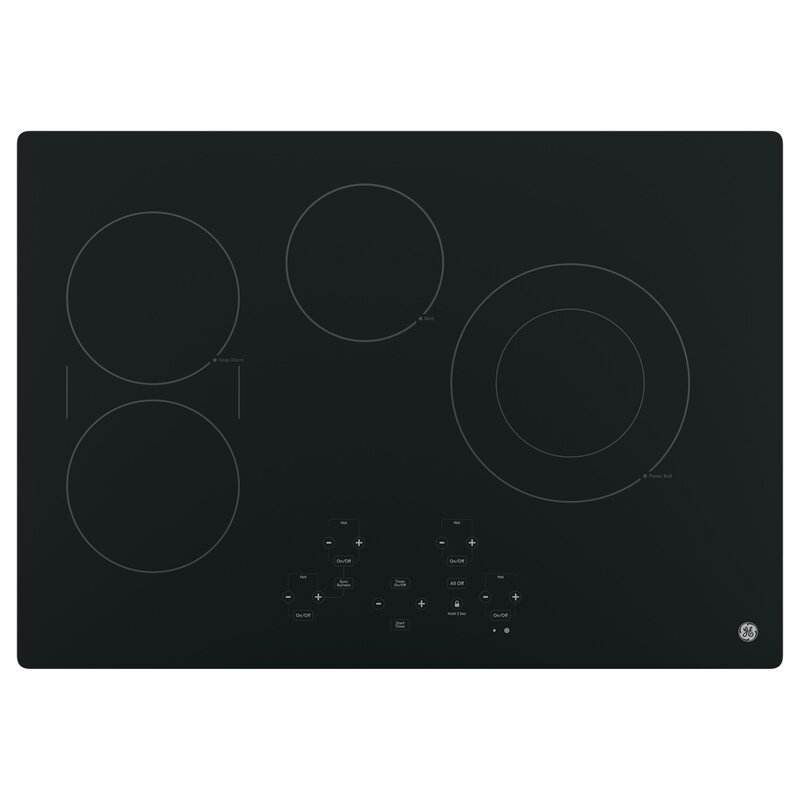 Electric Cooktop With 4 Burners
