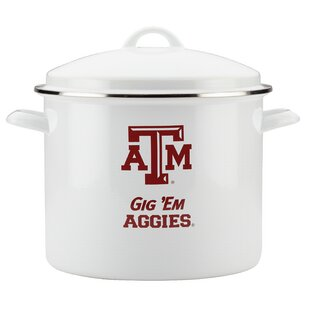 12 qt. Texas A&M Enamel on Steel Stock Pot with Lid by CollegeKitchenCollection
