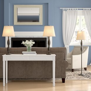 Petrey 3 Piece Table and Floor Lamp Set