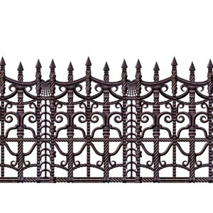 Halloween Creepy Fence Border