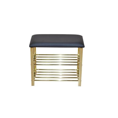 Gepolsterte Garderobenbank mit Stauraum aus Metall | Flur & Diele > Garderoben > Garderobenbänke | Metall | dCor design