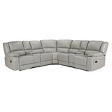 Kothe 108 Wide Faux Leather Symmetrical Reclining Corner Sectional by Latitude Run®